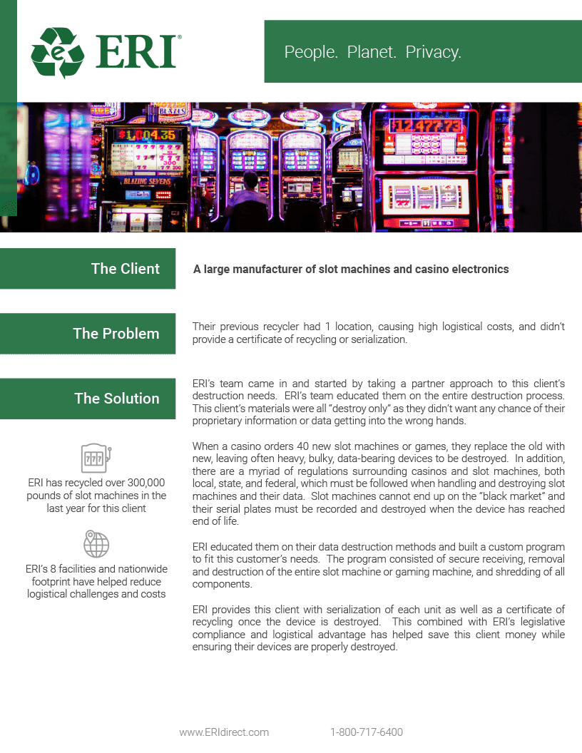 Screenshot of our Casino Case Study