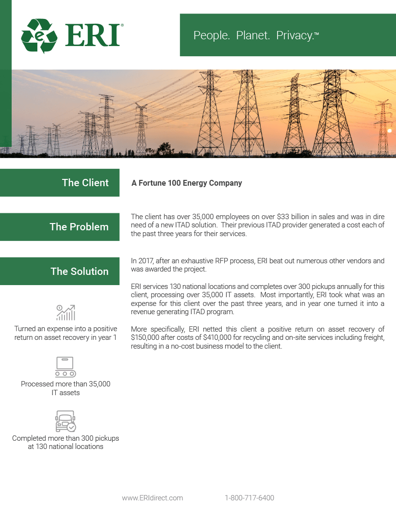 Screenshot of our Fortune 100 Energy Company Whitepaper